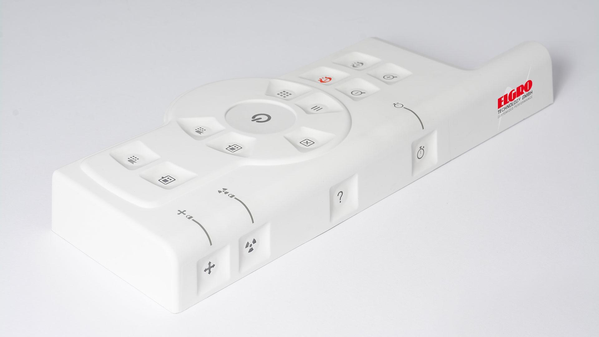 Kunststoff-Gehäuse mit Silikon-Bedienoberfläche - Beispiel 13