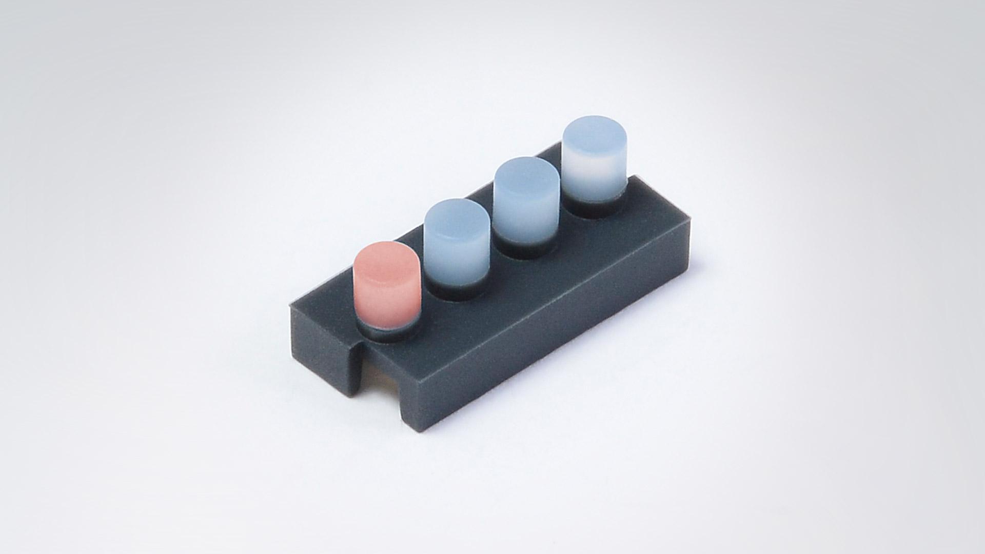2K-Silikonformteil – Lichtleiter - Beispiel 1