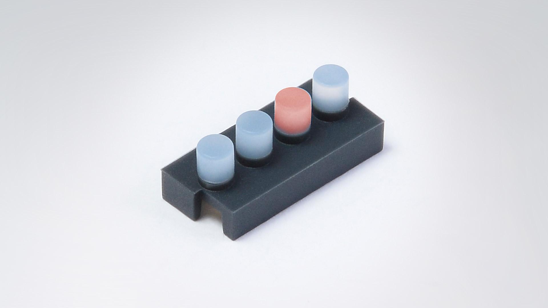 2K-Silikonformteil – Lichtleiter - Beispiel 3